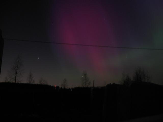 Северное сияние 17 марта 2015 в Москве